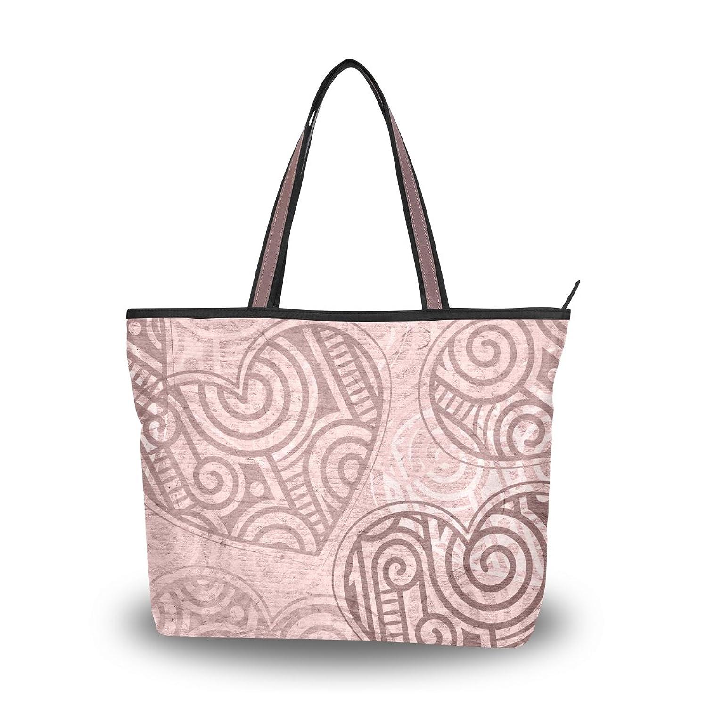 Senya Women's Handbag Microfiber Large Tote Shoulder Bag, Hearts Pattern