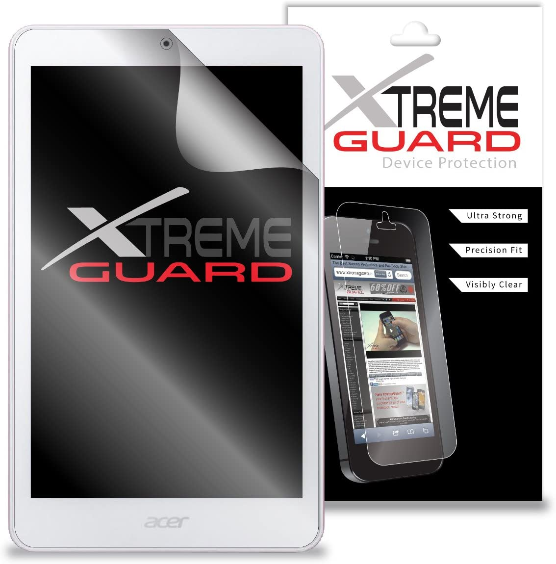 Premium XtremeGuard Screen Protector Cover for Acer Iconia One 8 B1-820 Tablet (Ultra Clear)