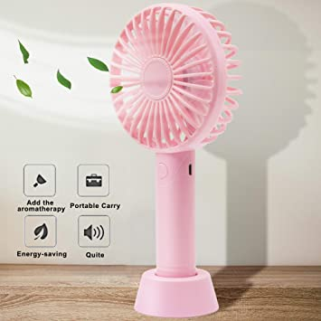 3 Model for Home Office Outdoor Travel Convenient Mini USB Small Fan Personal Quiet Handheld USB Fan Portable Outdoor Personal Rechargeable Cooling Desktop Fan Color : White, Size : One Size