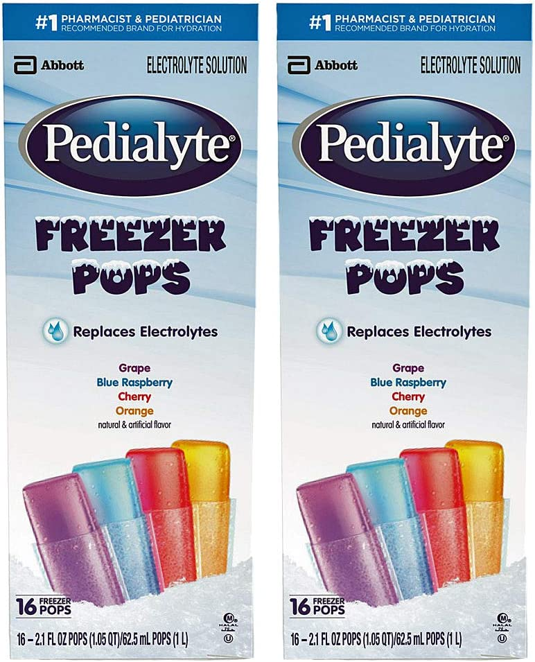 Pedialyte Freezer Pops - 16 ct, Pack of 2