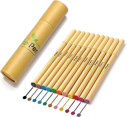 ECO-PEN Set de Bolígrafos de Gel de Colores Ecológicos, en Cartón ...