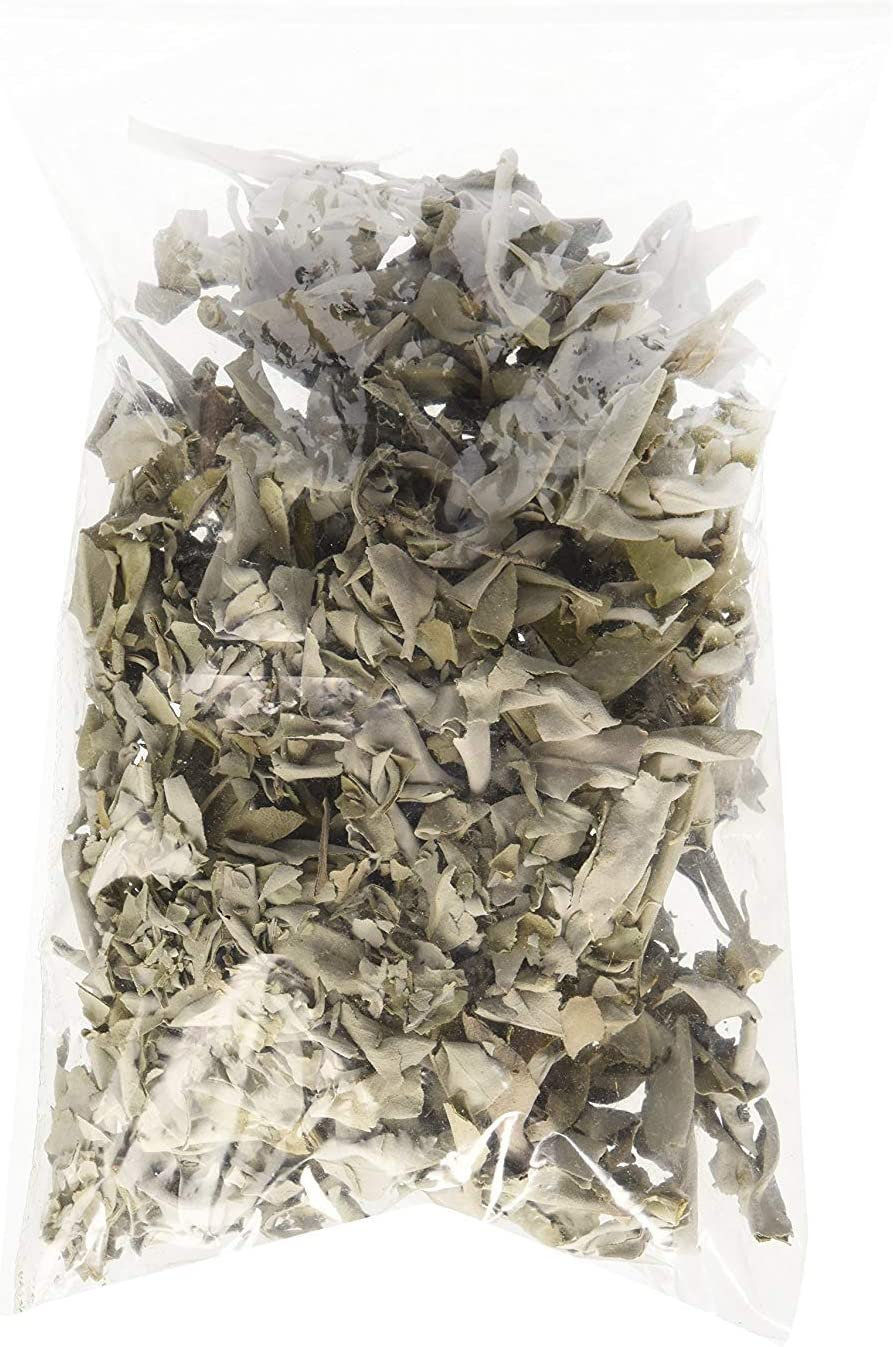 Incense Garden California White Sage Loose Leaves, Salvia Apiana Clusters, Dry Smudging & Burning Sage, 2 Ounce