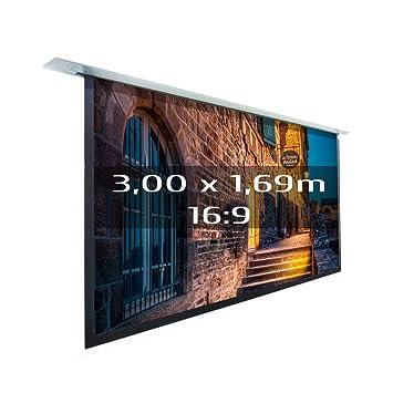 Kimex 3700685406636 - Pantalla de proyección eléctrica empotrable ...