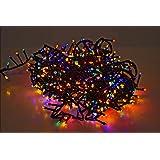 LED Lichterkette mit 700 LED - bunt / mehrfarbig - mit Speicherchip und 8 Funktionen - für Innen und Außen