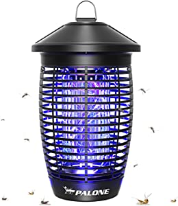PALONE Bug Zapper Outdoor, 4500V 20W Electric Repellents Lamp, Insect Killer Fly Pest Attractant Traps, Efficient Mosquito Killer for Patio, Garden, Home