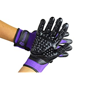 H HANDSON Pet Grooming Gloves Brush
