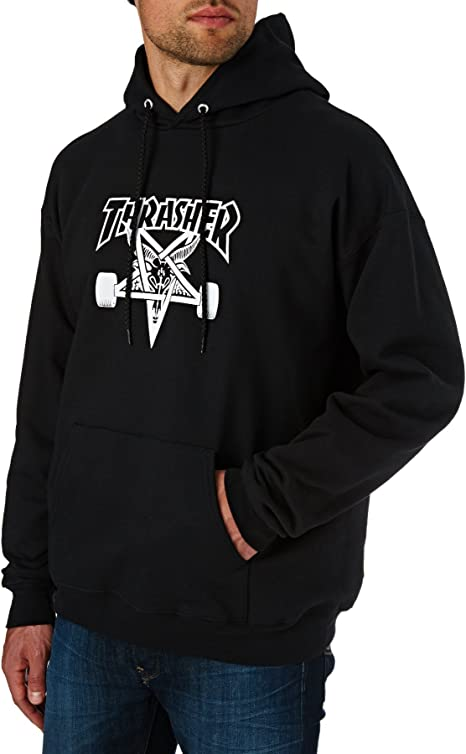 TALLA XL. Thrasher Skategoat - Sudadera con capucha - Negro