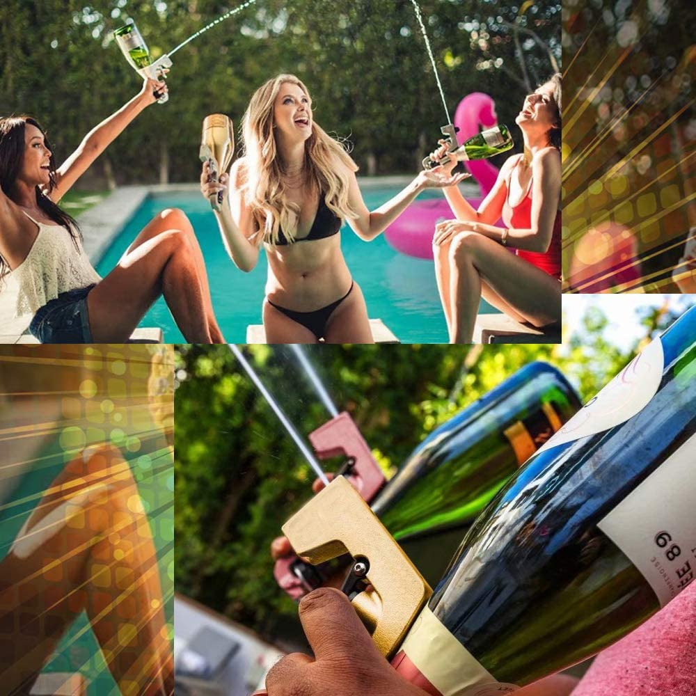 Resafy Champagne Spray Gun Long-lasting Champers Cannon,Party Liven Up The Atmosphere Wine Stopper and Pourer