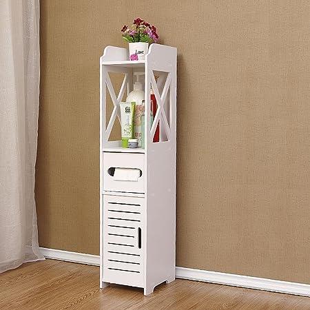 3 en 1 armoire salle de bain meuble de rangement etagere de salle de bain