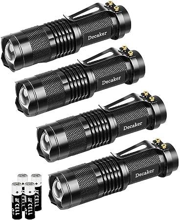 Details about  /Mini Led Flashlight Torch Lamp 2000 Lumens Adjustable Penlight Waterproof Light