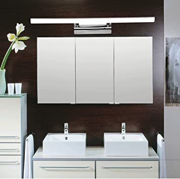 Cuarto De Baño Moderno Y Sencillo Espejo del Baño Impermeable ...