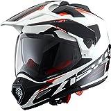 Astone Helmets Casque Tourer Adventure, Blanc/Noir, S