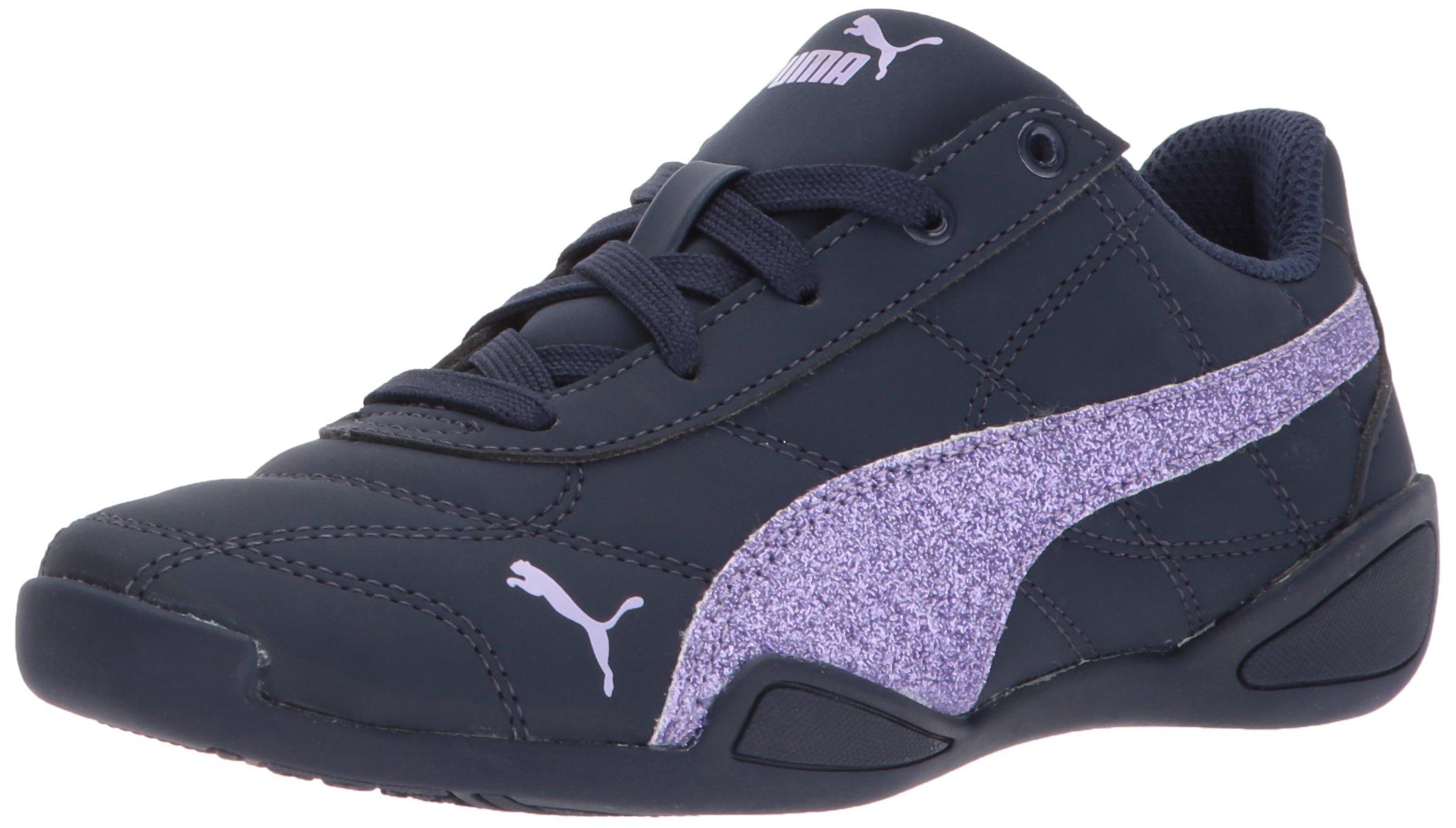 PUMA Girls' Tune Cat 3 Glam Kids 36427204 Sneaker, Peacoat-Purple Rose, 2 M US Little Kid
