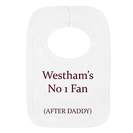 Personalizado no 1 ventilador después del babero – Westham daddy- (no Pegatina)-