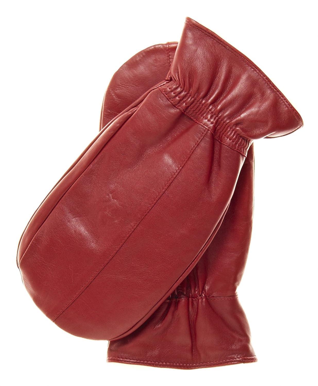Pratt and Hart Women's Rabbit Fur Leather Mittens