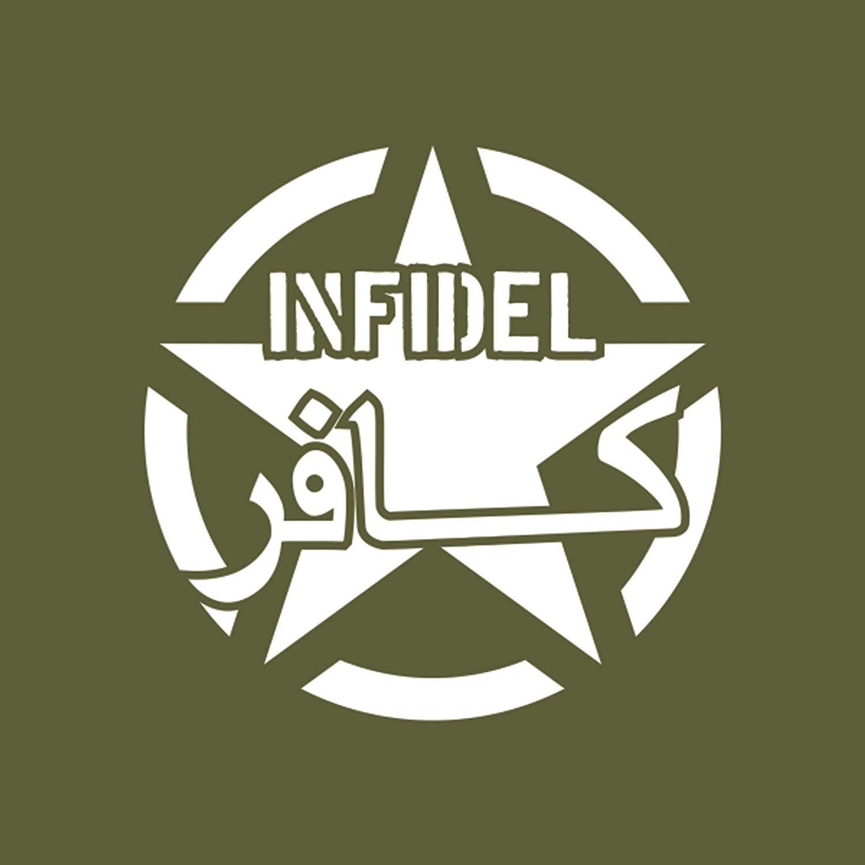 Sticker Aufkleber Allied Star Infidel Us Army Crusader Soldat 10x10cm #A071