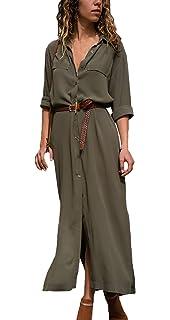 f6d9db1b6bcf Simple-Fashion Primavera Autunno Vestiti Elegante Moda V Collo Manica Lunga  Abiti da Cocktail Partito