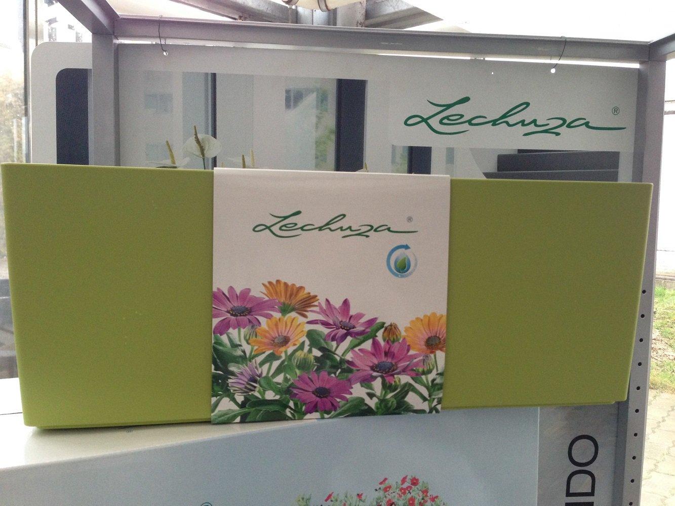 4 x Lechuza Balconera 50 Color Pistaziengrün Komplettset Balkonkasten Blumenkasten