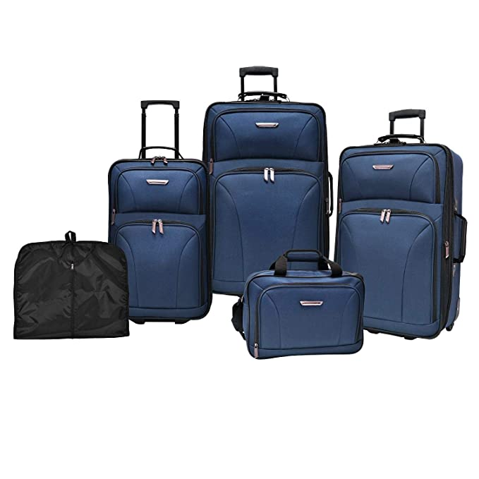 Amazon.com | Travelers Choice Versatile 5-Piece Luggage Set ...