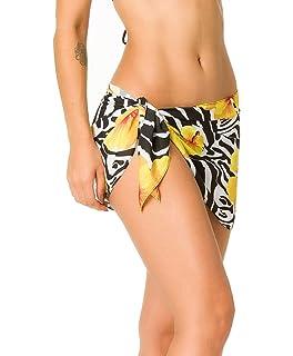 42a1a511e70 THE MESH KING Coqueta Swimwear Mini Sexy Chiffon Cover up Beach Sarong Pareo  Canga Swimsuit Wrap