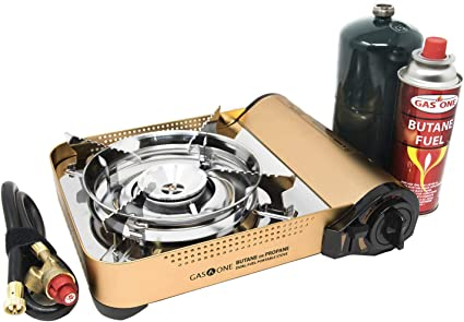 Amazon Com Gas One Gs 4000p Camp Stove Premium Propane Or Butane Stove With Convenient Carrying Case Great For Camp Stove And Portable Butane Stove For All Cooking Application Hurricane Supplies Sports