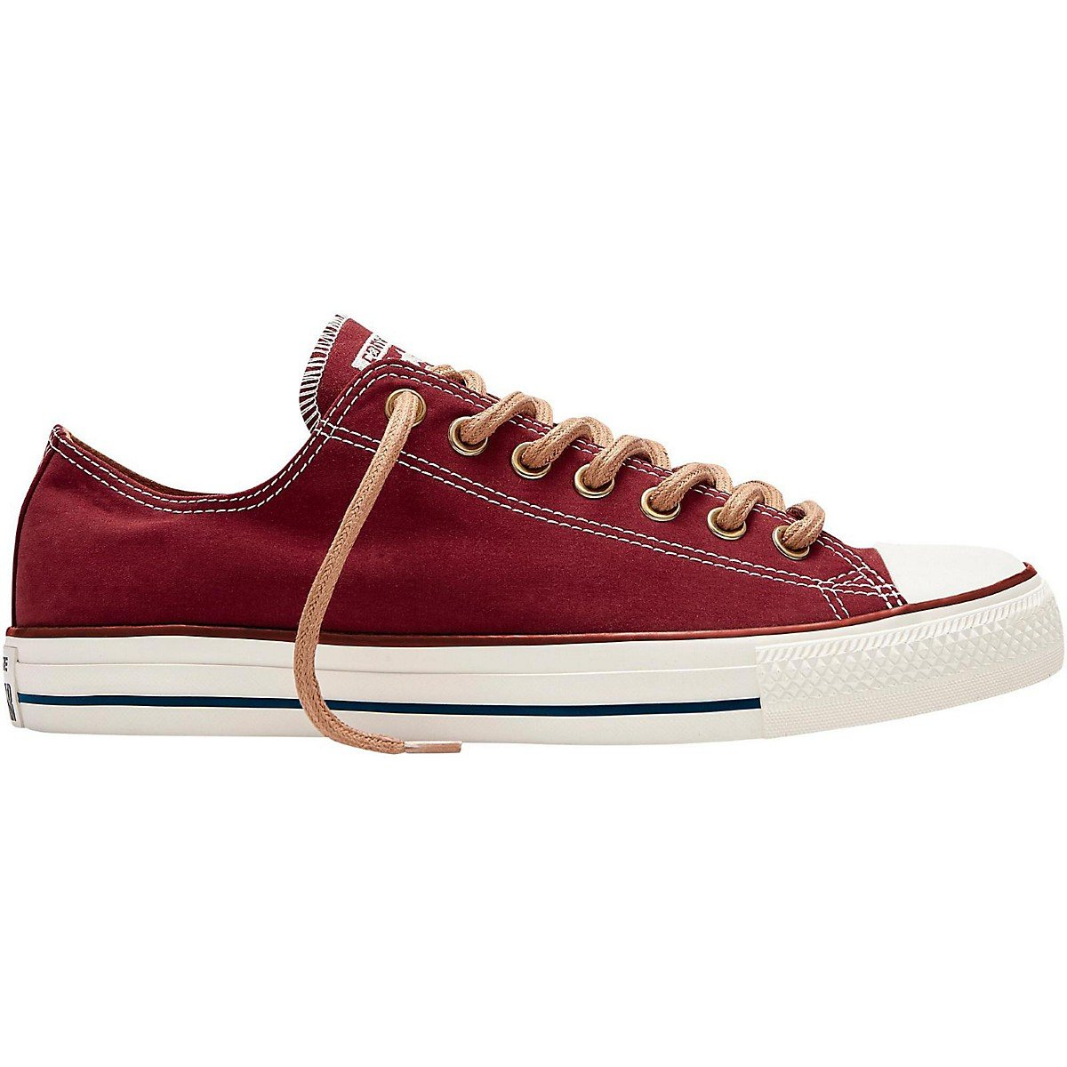 Converse Mens Chuck Taylor All Star Peached Canvas Oxford Fashion Sneaker, Back Alley Brick, 7