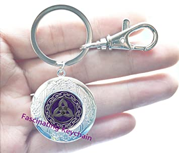 Nudo Celta medallón llavero dragón Celta con camafeo llavero ...