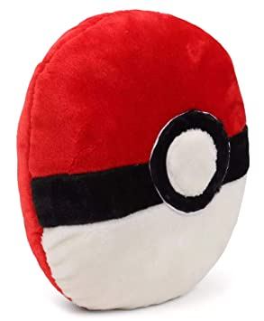 Tickles White Red Pokemon Pokeball Cushion Stuffed Soft Plush Toy 36 cm AT-C152