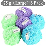 Amazon Price History for:JCMASTER Bath Shower Sponge Pouf, 6 Pack Large Shower Luffa Sponge Pouf Produce Rich Bubble, 75g