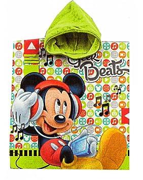 Albornoz poncho toalla algodón verde Minions Playa Niños: Amazon.es: Hogar