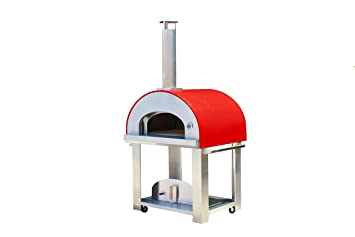 large wood burning pizza oven portable outdoor cart