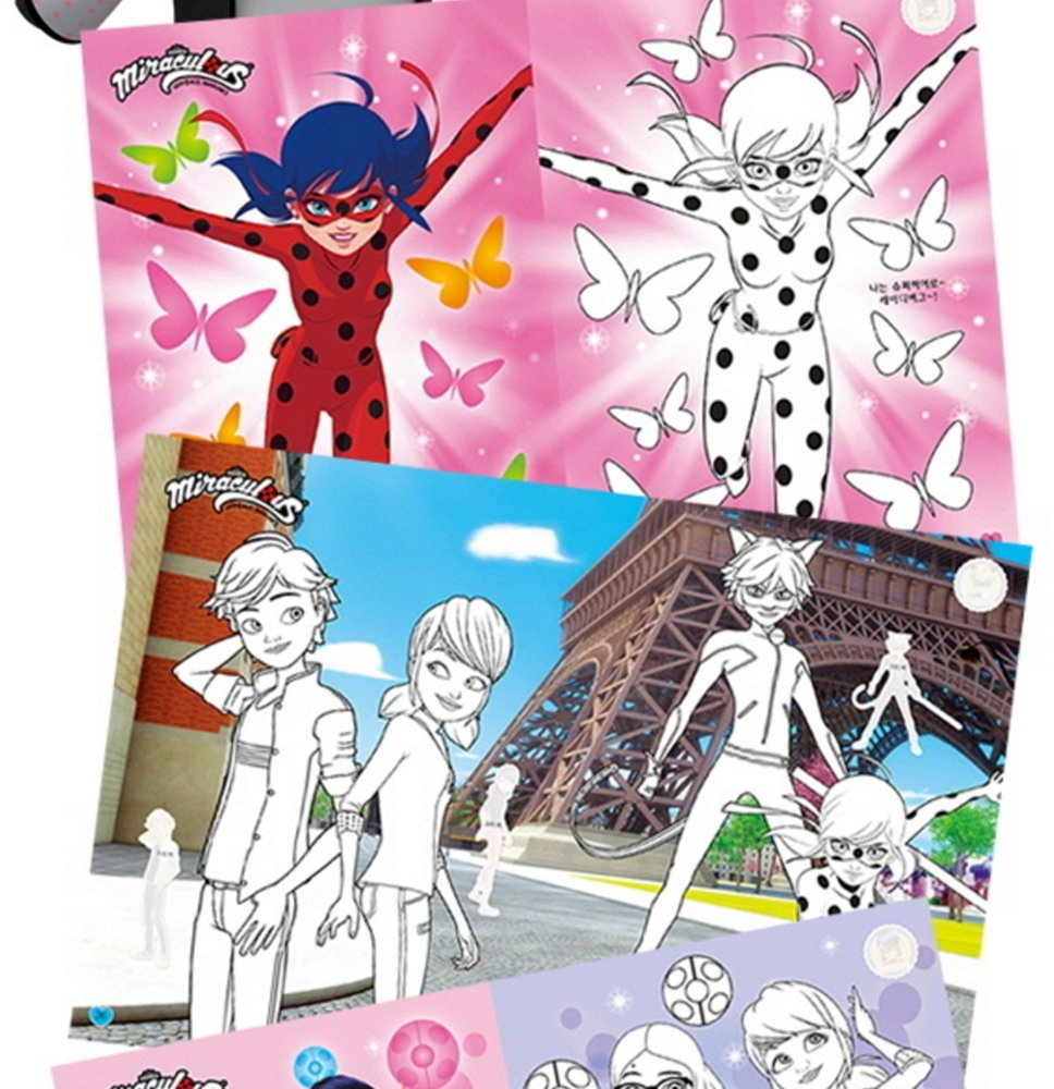 Miraculous Ladybug Sticker Coloring Book Activity Play Kids Toy Gift Fun Hobby Children Free Giraffe Bookmark Amazon Books