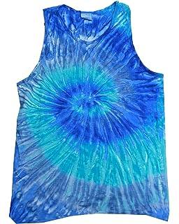 16cf3b10f3271e Colortone Tie Dye Tank Tops Unisex Neon Multicolored Adult Small ...