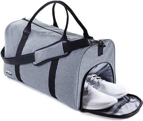 The Weekender Duffel Bag – Travel Bag Duffle Bag – BONUS Lost Found ID Gray