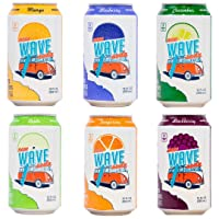 New Wave Soda Natural Soda Canned Fruit Juice, Mango, Healthy Soda Caffeinated Sparkling Water | Vegan, Keto, Gluten Free Soft Drink, No Added Sugar or Artificial Flavors, Recyclable, 12 Pack