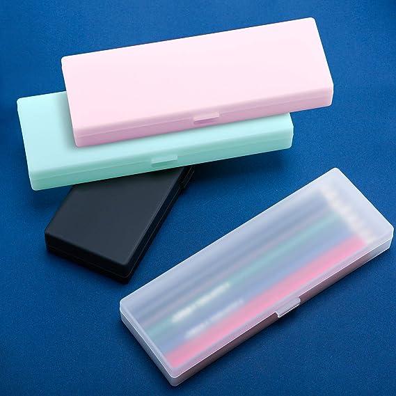 Estuche plástico de 4 piezas Estuche plástico con tapa con ...