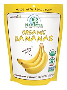 Natierra Nature's Organic Freeze-Dried Bananas | Gluten Free & Vegan | 2.5 Ounce
