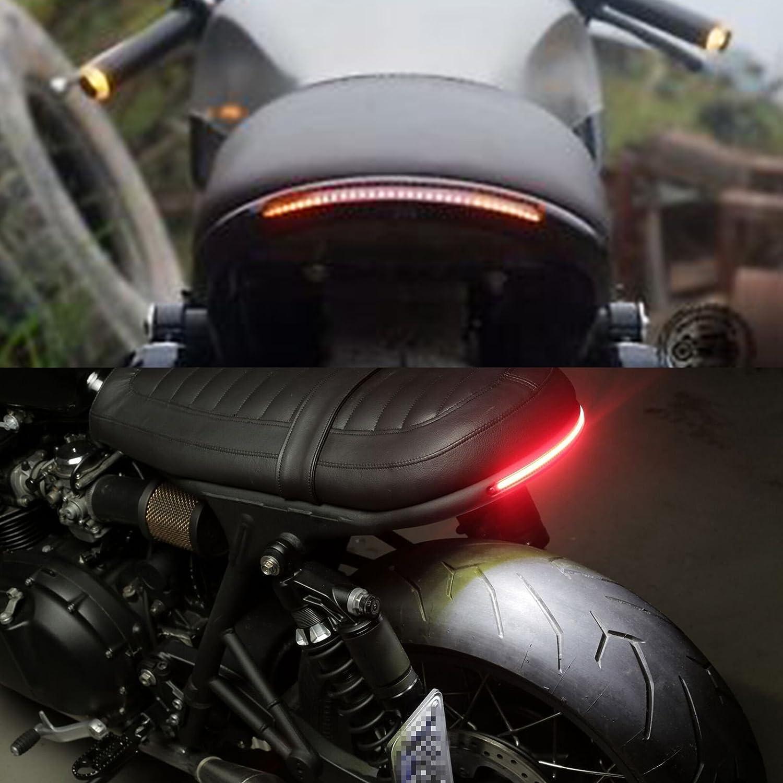 TARAZON 1 Cafe Racer Seat Frame Loop Hoop Cerceau de si/ège et LED DEL Arr/êter//Feux Arri/ère CB500 CB550 CB650 CB750 GS550 GS650 GS750 GS850 GS1100 Yamaha XS 750 850 1100