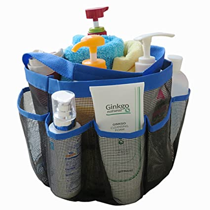 Amazon.com: DearyHome 8 Pocket Mesh Shower Tote Quick Dry Shower ...