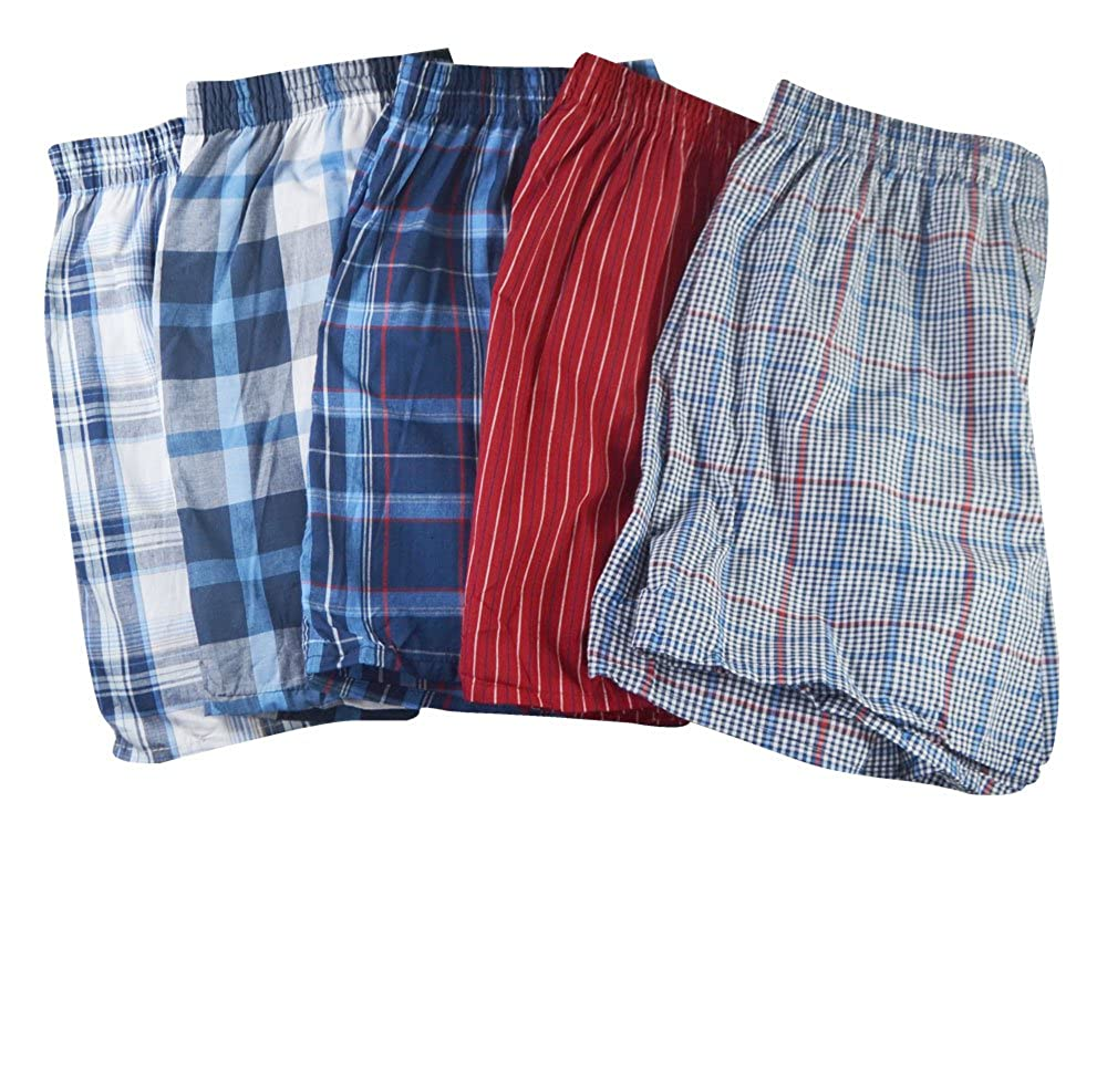 Fruit of the Loom Mens Woven Tartan and Plaid Boxer Multipack