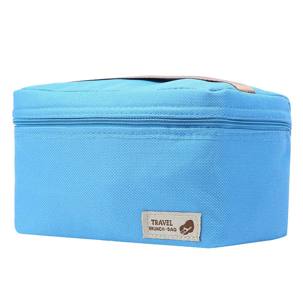 ♚Rendodon♚ Storage Bag, Household Storage, Foldable Lunch Box Bag, Lunch Picnic Storage Bag, Outdoor Portable Insulated Thermal Cooler Bento Lunch Box Picnic Storage Bag (Blue) by ♚Rendodon♚ (Image #1)