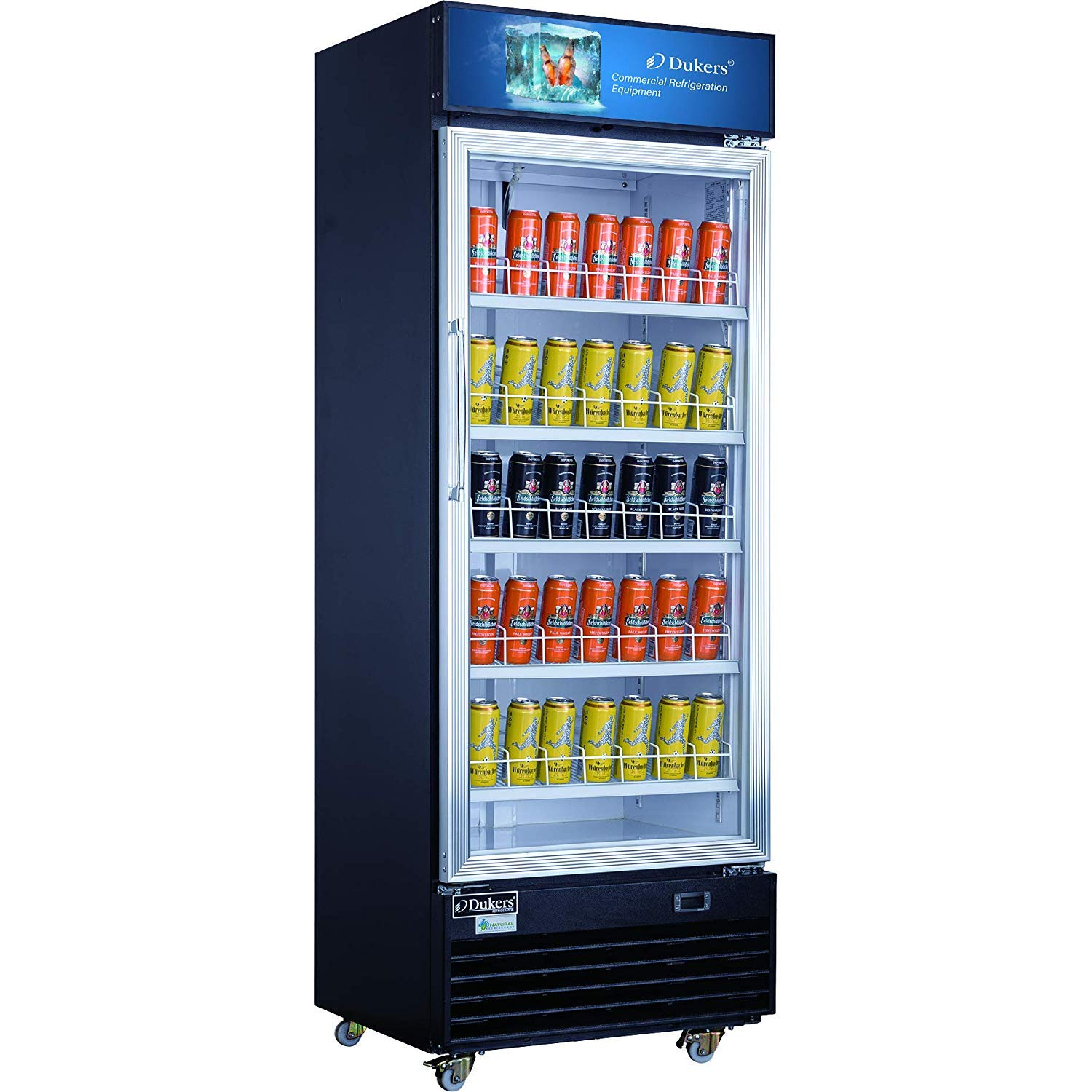 Dukers DSM-15R 14.7 cu. ft. Commercial Display Cooler Merchandiser Refrigerator by Dukers Appliance USA