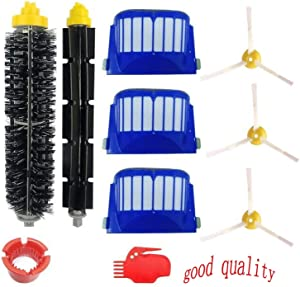 ZAOTOTO Accessory for Irobot Roomba 600 610 620 650 Series Vacuum Cleaner Replacement Part Kit - Includes 3 Pack Filter, Side Brush, and 1 Pack Bristle Brush