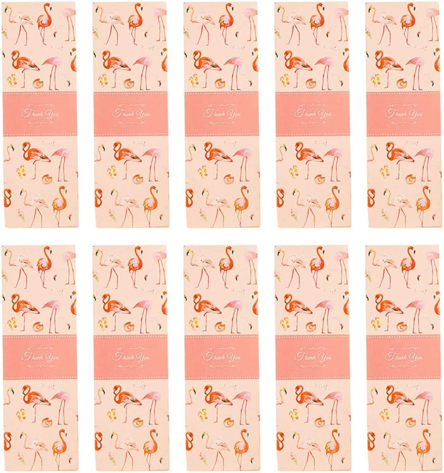 Lumanuby 10 x Mode Flamingo rectángulo Caja de Regalo para Caramelos para Galletas o Cookie Macaron Multiusos Alimentos Caja de Papel para Boda Negocios para entrantes. o DIY Size 21 x 7.3