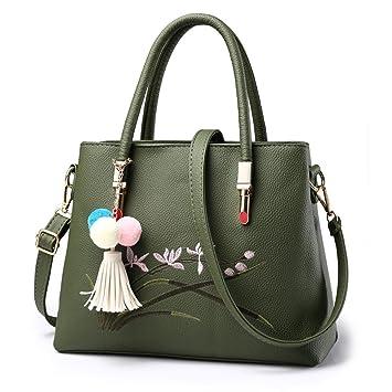 Aoligei Sac de mode Baotan épaule oblique paquet span doux surface PU femme sac broderie ligne vent Madame handbag nNnwrZoYav