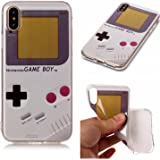 iphone X Silicone case cover , Stingna Anti-Scratch &Fingerprint Shock Proof Thin TPU Case For Apple iPhone X 2017 Release (Game boy)