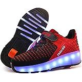 Unisex Led Luz Automática de Skate Zapatillas con Ruedas Zapatos Patines…