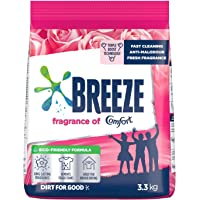 Breeze Powder Detergent, Fragrance of Comfort, 3.3kg (Packaging may vary)