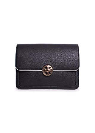 f63eb5e0013 Image Unavailable. Image not available for. Color  Tory Burch Duet Chain  Ladies Large Leather Shoulder Bag 31332004