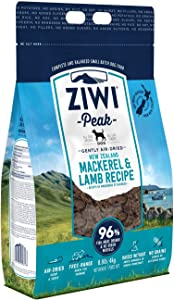 ZIWI Peak Air-Dried Dog Food – All Natural, High Protein, Grain Free & Limited Ingredient, with Superfoods (Mackerel & Lamb, 8.8 lb)